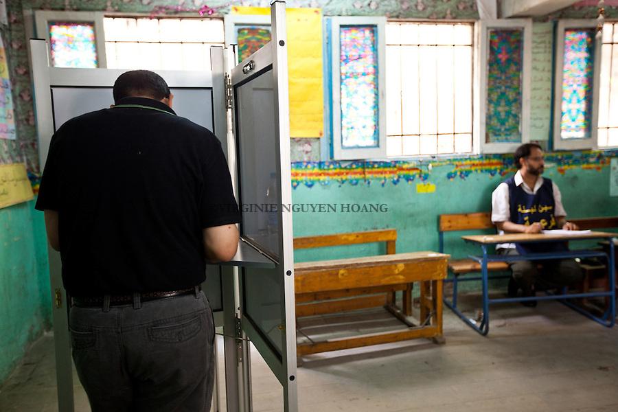 ©VIRGINIE NGUYEN HOANG/.Egypt,Cairo.23/05/2012..Presidential elections in Cairo...Elections presidentielles au Caire