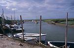 AE2KRD Blakeney quayside boats Norfolk England