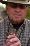 BYU Lytle Ranch preserve.  Dr. Hal Black teaching Ornithology, and BYU Students doing service..March 31-April 2, 2005.0504-03 Lytle Preserve..Photo by Steve Walters/BYU