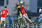 Brian Looney, Dr Crokes in action against Jack Sherwood, East Kerry  during the Kerry County Senior Club Football Championship Final match between East Kerry and Dr. Crokes at Austin Stack Park in Tralee, Kerry.