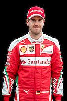 March 17, 2016: Sebastian Vettel (DEU) #5 from the Scuderia Ferrari team at the drivers' portrait session prior to the 2016 Australian Formula One Grand Prix at Albert Park, Melbourne, Australia. Photo Sydney Low