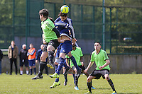 Match action from the North Home Counties Football League Premier Division Decider between A.C. Sportsman and Green Man at Venue 360, Luton, England on 1 May 2016. Photo by David Horn/PRiME Media Images.