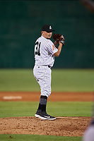 Jackson Generals pitcher Miguel Aguilar (31) during a Southern League game against the Mississippi Braves on July 23, 2019 at The Ballpark at Jackson in Jackson, Tennessee.  Mississippi defeated Jackson 1-0 in the second game of a doubleheader.  (Mike Janes/Four Seam Images)