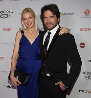 NEW YORK, NY - NOVEMBER 19: Kelly Rutherford and Matthew Settle at the 40th International Emmy Awards in New York. November 19, 2012. © Diego Corredor/MediaPunch Inc. /NortePhoto