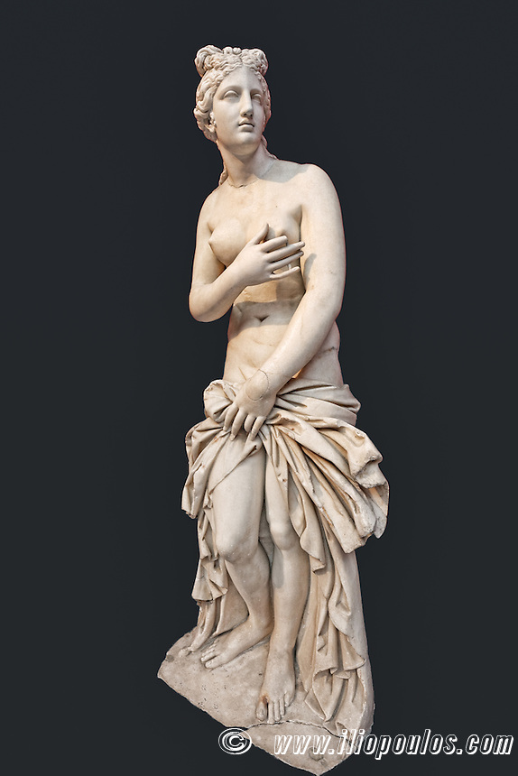 Marble statue of Aphrodite (2nd cent. A.D.) in National Museum, Greece