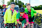 Michael Coughlan, Stephen Daly and Mike O'Leary Killarney at the Ring of the Reeks cycle in Beaufort on Saturday