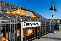 Tarrytown train station, New York, USA.