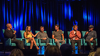"Coolangatta, Queensland (Thursday, August 2 2018): Sean Doherty (AUS) Lyndie Irons (HAW), Flim maker Steve Jones  (USA), Enich Harris (USA), Mark Occhilupo  (AUS) and Joel Parkinson (AUS) - The Gold Coast Premier of the Andy Irons: Kissed by God  movie was held last night at Twin Towns Resort with over a 1000 people in attendance including Joel Parkinson, Occy, Mick Fanning and Lyndie Irons. Kissed by God is a film about bipolar disorder and opioid addiction as seen through the life of three-time world champion surfer Andy Irons. Andy struggled with the same demons that millions of people worldwide battle with daily. Andy was an incredible presence on the world stage as the ""People's Champion."" He was the pride of Hawaii and revered around the world for his blue-collar rise to fame and success. However, many were unaware of the internal battles that led to his demise. As the opioid crisis rises to a national emergency in the United States and around the world, the untold story of Andy's life serves to tear down the myths associated with these two ferocious diseases.<br /> <br /> This film is produced by Teton Gravity Research and is brought to Australia in partnership with Surfing World Magazine<br /> Photo: joliphotos.com"