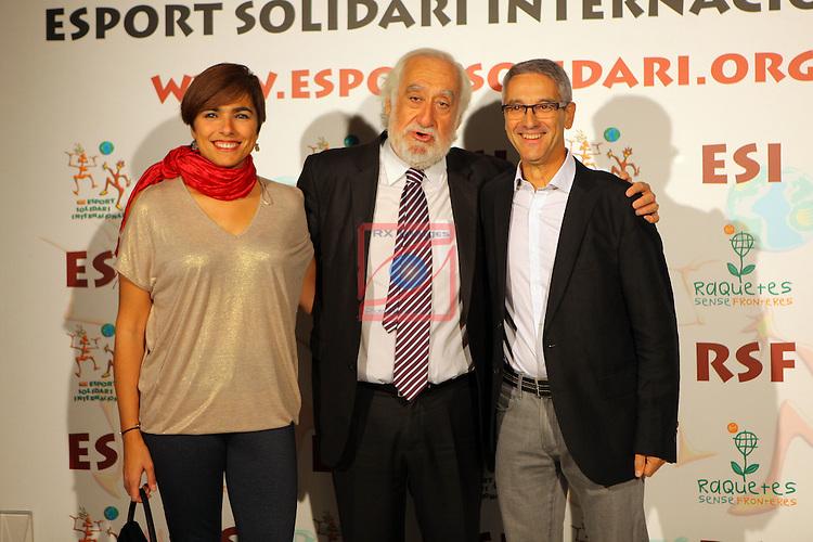 XIe Sopar Solidari d'ESI (Esport Solidari Internacional).<br /> Josep Maldonado, Arcadi Albes &amp; Sra.