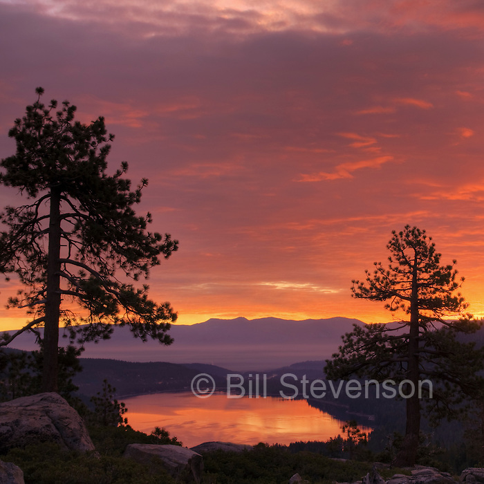 Sunrise at Donner Lake near Truckee, California