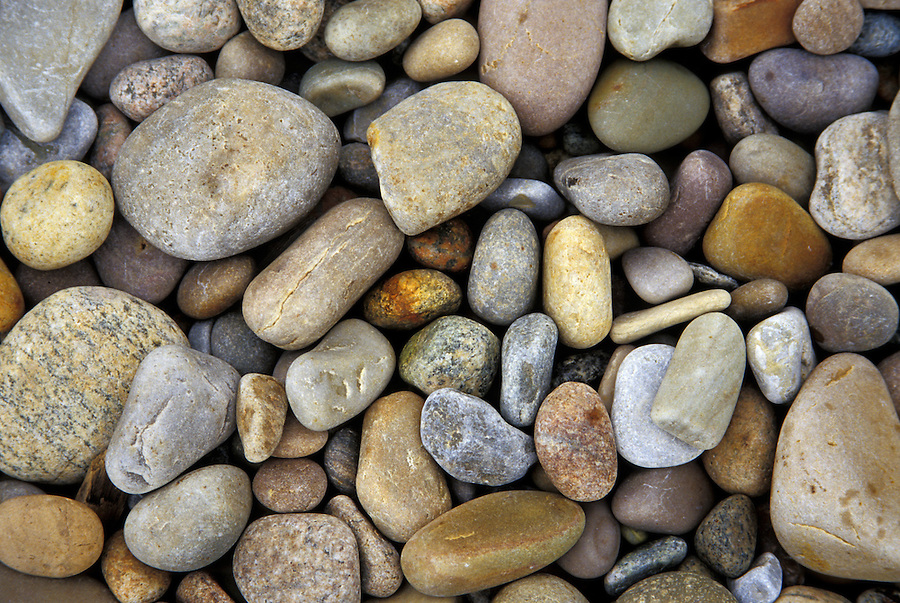 Beach pebbles, Martin's Point, Newfoundland, Canada