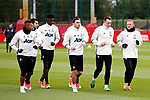 Manchester United players warm up during the Manchester United open training session at the Carrington Training Centre, Manchester. Picture date: May 19th 2017. <br /> Pic credit should read: Matt McNulty/Sportimage
