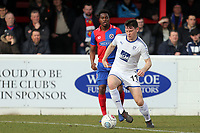 Connor Jennings of Tranmere Rovers and Fejiri Okenabirhie of Dagenham  during Dagenham & Redbridge vs Tranmere Rovers, Vanarama National League Football at the Chigwell Construction Stadium on 10th March 2018