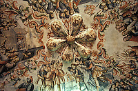 Mural on the ceiling inside the Santuario de Atotonilco near San Miguel de Allende in the state of Guanajuato, Mexico. Atotonilco is a UNESCO World Heritage Site.