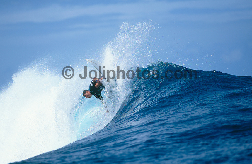 Vetea David (PYF), Gotcha Tahiti Pro, 1999..photo:  joliphotos.com