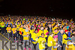 The crowd starts to leave Killarney Racecourse at the start of  Nathan's Darkness into Light walk in aid of Pieta House on Saturday in Killarney racecourse