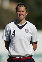 MAR 11, 2006: Quarteira, Portugal:  USWNT defender Amy Lepeilbet
