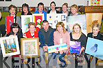 Students from the Killarney Community College Adult Education at the Annual Art & Photographic Exhibition in Killarney Community College last Tuesday night. Pictured here Bottom L-R Libby Buckley from Fossa, Sheila Daly from Farranfore, Noel OConnor from Killarney, Mairead Kerrisk from Killarney, Aine Walsh from Firies and Catherine O'Connor from Beaufort, Top L-R Geraldine O'Keeffelyne from Killarney, Phil Duffy from Fossa, Breda O'Leary from Ballyhar, Amelie Gagne (teacher of acrylic classes) from Faha, Debrah O'Sullivan and Noreen ORiordan from Beaufort.