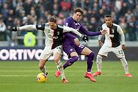 2nd February 2020; Allianz Stadium, Turin, Italy; Serie A Football, Juventus versus Fiorentina; Adrien Rabiot of Juventus shields the ball from Dusan Vlahovic of Fiorentina