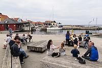 Hafen von Gudhjem auf der Insel Bornholm, D&auml;nemark, Europa<br /> port of Gudhjem, Isle of Bornholm Denmark
