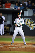 Siena Saints pinch hitter Matt Hamel (6) at bat during a game against the UCF Knights on February 17, 2017 at UCF Baseball Complex in Orlando, Florida.  UCF defeated Siena 17-6.  (Mike Janes/Four Seam Images)