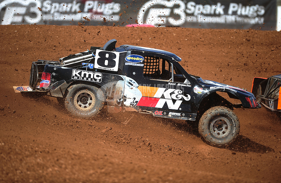 Apr 15, 2011; Surprise, AZ USA; LOORRS driver Kent Brascho (8) during round 3 and 4 at Speedworld Off Road Park. Mandatory Credit: Mark J. Rebilas-.