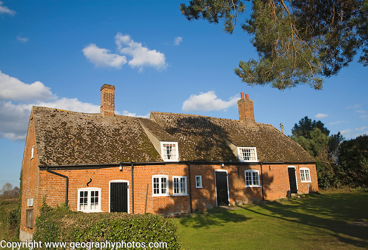 Three former cottages converted to small village hall, Shottisham, Suffolk, England