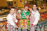 CHAMPIONSHIP: Marc Ó Sé (West Kerry), James Walsh (St Kireans) and Bryan Sheehan (South Kerry) launching the 2013 Gravey's Supervalu Kerry County Football Championship at Garvey's Supervalu, Tralee on Monday.