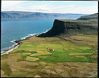 Hænuvík,  Rauðasandshreppur, loftmynd.Haenuvik, Raudasandshreppur, aerial