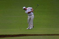 Damien McGrane (IRL) on the 1st during Round 1 of the ISPS HANDA Perth International at the Lake Karrinyup Country Club on Thursday 23rd October 2014.<br /> Picture:  Thos Caffrey / www.golffile.ie