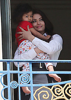 Aishwarya Rai and daughter Aaradhya at the Martinez Hotel during the 66th Cannes Film Festival