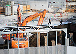 July 3, 2017, Tokyo, Japan - A picture taken on May 29, 2017 shows workers at the construction site of the new National Stadium for the Tokyo 2020 Olympics and Paralympics. According to the Bank of Japan's tankan report, confidence among the nation's largest manufacturers has risen for the third straight quarter to the greatest level in more than three years. The report showed a reading of 17 among major manufacturers which is the highest since the first quarter of 2014. (Photo by AFLO)