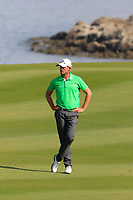 Alexander Bj&ouml;rk (SWE) in action during the final round of the NBO Open played at Al Mouj Golf, Muscat, Sultanate of Oman. <br /> 18/02/2018.<br /> Picture: Golffile | Phil Inglis<br /> <br /> <br /> All photo usage must carry mandatory copyright credit (&copy; Golffile | Phil Inglis)