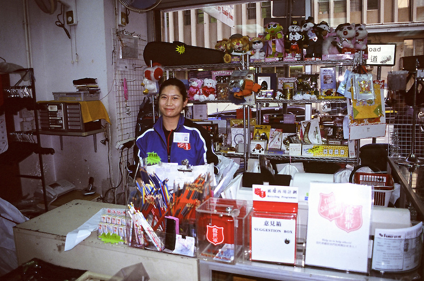 "In the ""Family store"" of the Salvation Army of Hong-kong."