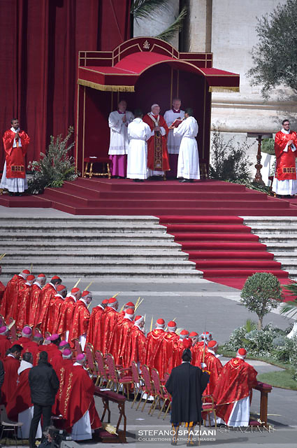 Pope Francis during of the Palm Sunday celebration on St Peter's square at the Vatican.April 24,2018