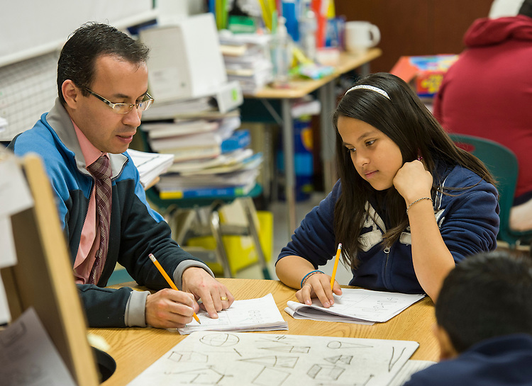 Students in Apollo 20 math tutoring at Walnut Bend Elementary school, February 6, 2013.