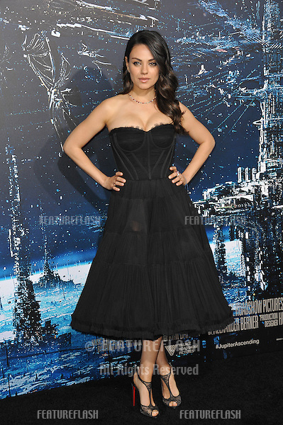 Mila Kunis at the Los Angeles premiere of her movie &quot;Jupiter Ascending&quot; at the TCL Chinese Theatre, Hollywood.<br /> February 2, 2015  Los Angeles, CA<br /> Picture: Paul Smith / Featureflash