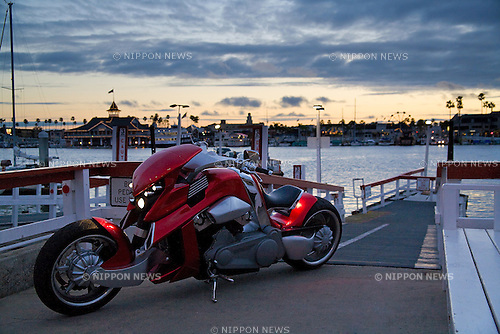 World famous Travertson V-Rex motorcycle pictured in Los Angeles on . (Photo David Foch/Nippon News)