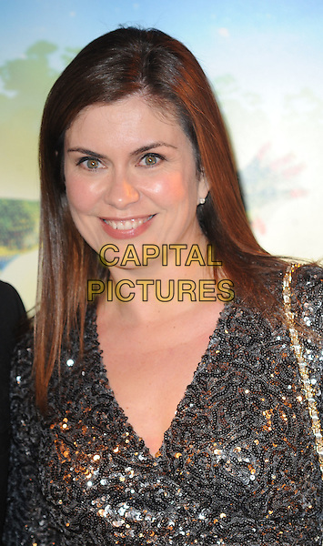 Amanda Lamb.'Cirque Du Soleil: Totem' UK Premiere, Royal Albert Hall, London, England..5th January 2012.headshot portrait brown sequins sequined silver grey gray .CAP/WIZ.© Wizard/Capital Pictures.
