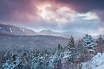Squall clouds over Mount Osceola in the White Mountain National Forest, New Hampshire, USA