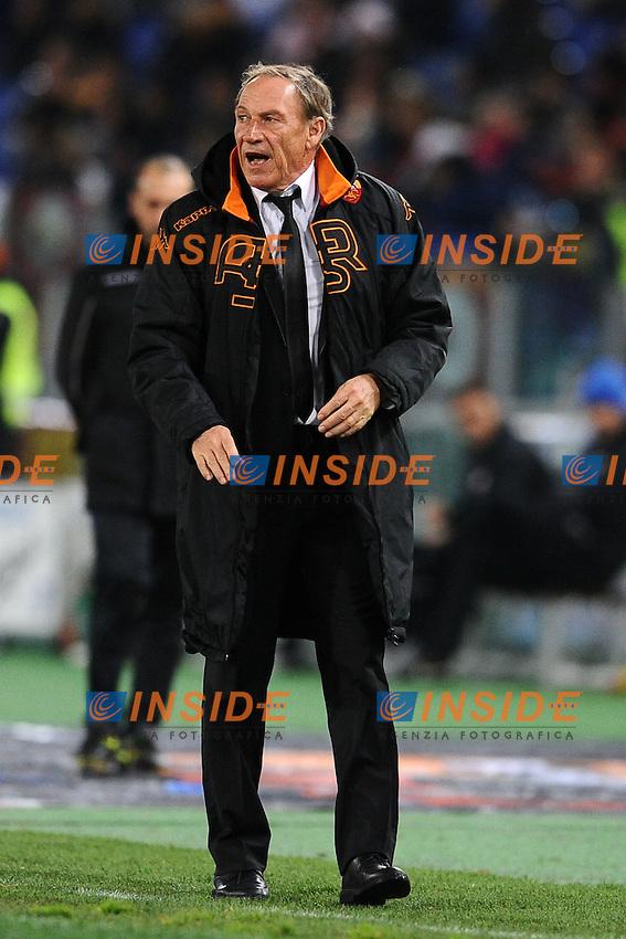 Zdenek Zeman, allenatore della Roma.20/01/2013 Roma.Stadio Olimpico.Football Calcio 2012 / 2013 .Campionato di Calcio Serie A.Roma vs Inter.Foto Insidefoto / Antonietta Baldassarre.