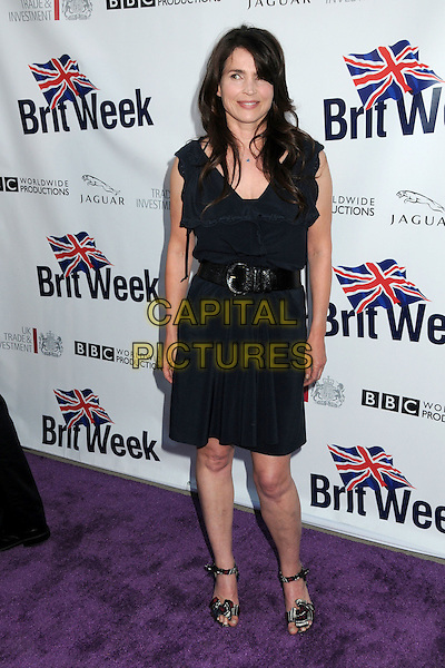 JULIA ORMOND.5th Annual BritWeek Launch Party held at the British Consul General's Home, Los Angeles, California, USA, .26th April 2011..full length dress belt sandals black frill open toe .CAP/ADM/BP.©Byron Purvis/AdMedia/Capital Pictures.