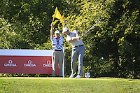 Henrik Stenson (Team Europe) on the 10th tee during Saturday afternoon Fourball at the Ryder Cup, Hazeltine National Golf Club, Chaska, Minnesota, USA.  01/10/2016<br /> Picture: Golffile | Fran Caffrey<br /> <br /> <br /> All photo usage must carry mandatory copyright credit (&copy; Golffile | Fran Caffrey)