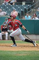 Altoona Curve catcher Ralph Henriquez (3) during game against the New Britain Rock Cats  at New Britain Stadium on June 25, 2014 in New Britain, Connecticut. New Britain defeated Altoona 3-1.  (Tomasso DeRosa/Four Seam Images)