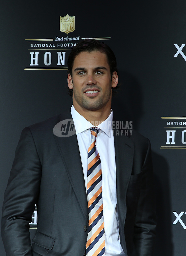 Feb. 2, 2013; New Orleans, LA, USA:  NFL player Eric Decker on the red carpet prior to the Super Bowl XLVII NFL Honors award show at Mahalia Jackson Theater. Mandatory Credit: Mark J. Rebilas-USA TODAY Sports