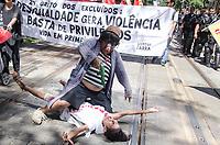 "RIO DE JANEIRO, RJ, 03.09.2018 - PROTESTO-RJ - Protesto de integrantes de movimentos populares denominado "" Grito dos Excluídos "", no Rio de Janeiro (RJ), nesta sexta-feira (07), nesta segunda-feira (3) (Foto: Vanessa Ataliba/Brazil Photo Press)"