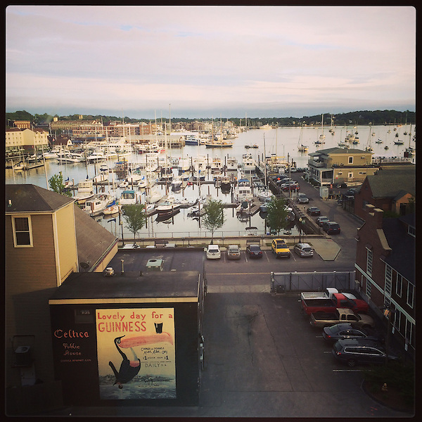 The Newport Harbor in Rhode Island during sunset on June 5, 2015.