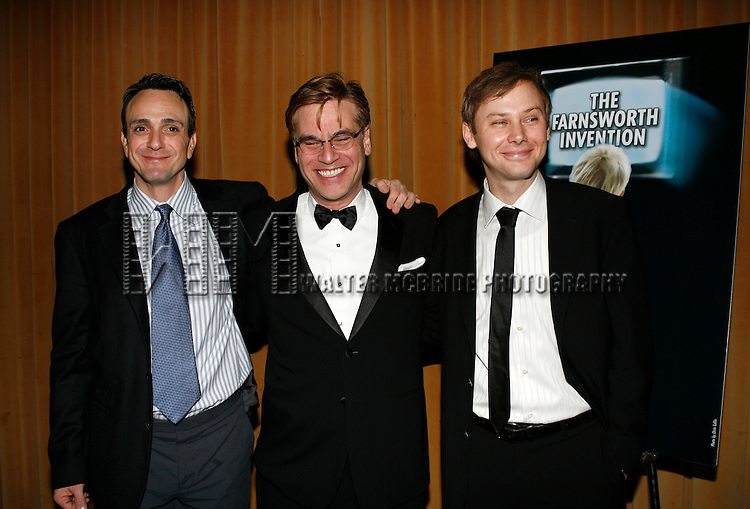 Hank Azaria & Aaron Sorkin & Jimmi Simpson.attending the Opening Night Party for THE FARNSWORTH INVENTION at the Mariott Marquis Hotel in New York City..December 3, 2007.© Walter McBride / Retna Ltd.