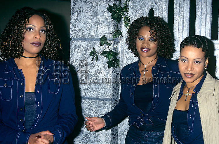 Salt n' Pepa pictured at the NATPE Convention in New Orleans, Louisiana on January 21, 1998. © Walter McBride / Retna Ltd.