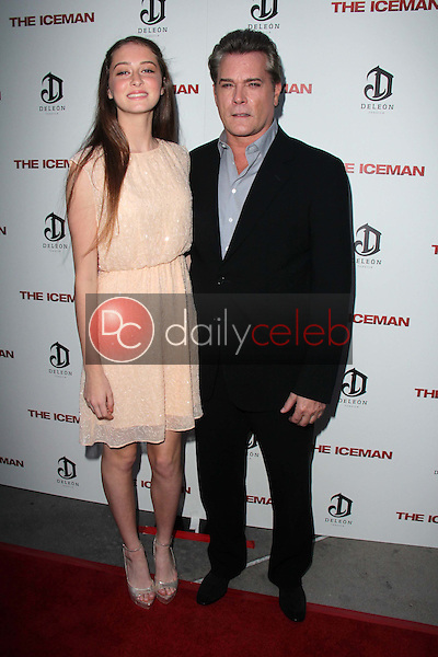 """Karsen Liotta and Ray Liotta<br /> at """"The Iceman"""" Red Carpet, Arclight Theater, Hollywood, CA 04-22-13<br /> David Edwards/DailyCeleb.Com 818-249-4998"""
